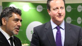 James Caan with David Cameron